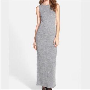 Leith Nordstrom Gray Knit Sleeveless Maxi Dress